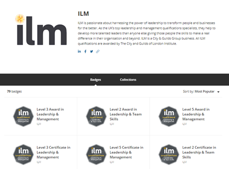digital badges for ILM