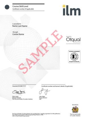 Brand new ilm certificates we are delighted to announce that we have launched a new modern look for our certificates yelopaper Images
